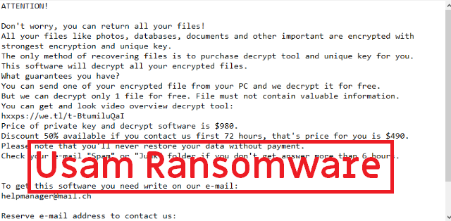 Usam Ransomware