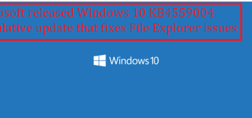 Microsoft released Windows 10 KB4559004 cumulative update that fixes File Explorer issues