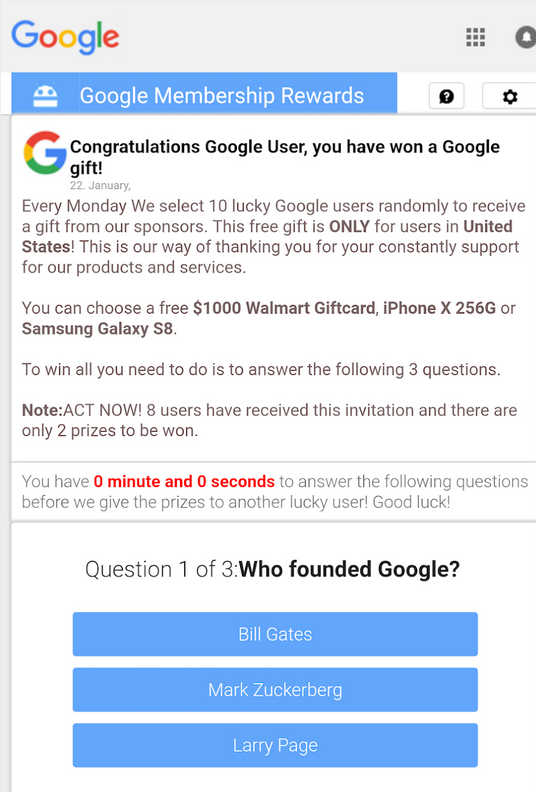 Google Pay scam emails