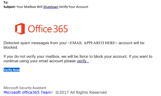 Your Microsoft subscription has been expired email scam