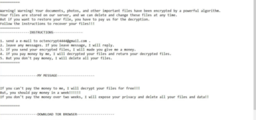 Oct ransomware Removal